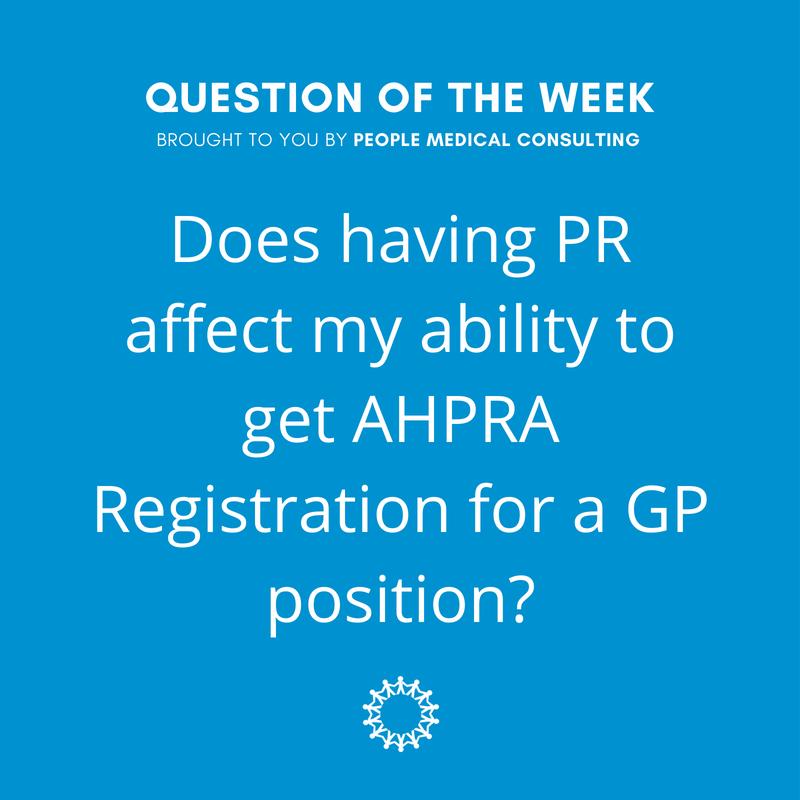 Does PR affect AHPRA Registration