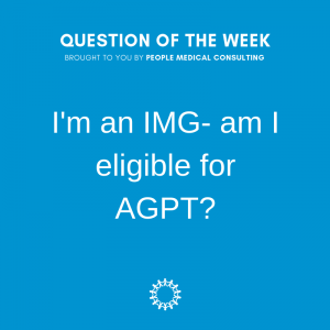 I'm an IMG- am I eligible for AGPT_