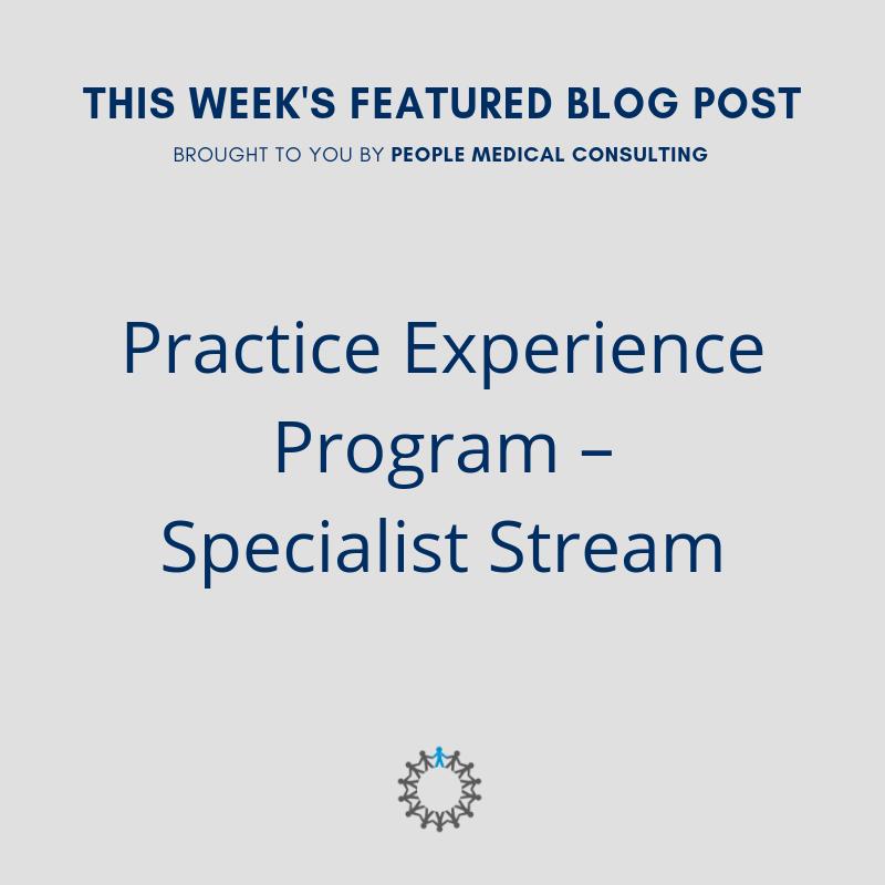 Practice experience program – specialist stream