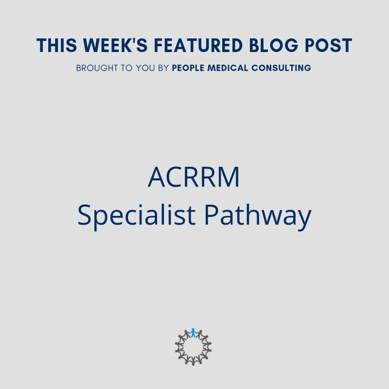 ACRRM SPECIALIST PATHWAY